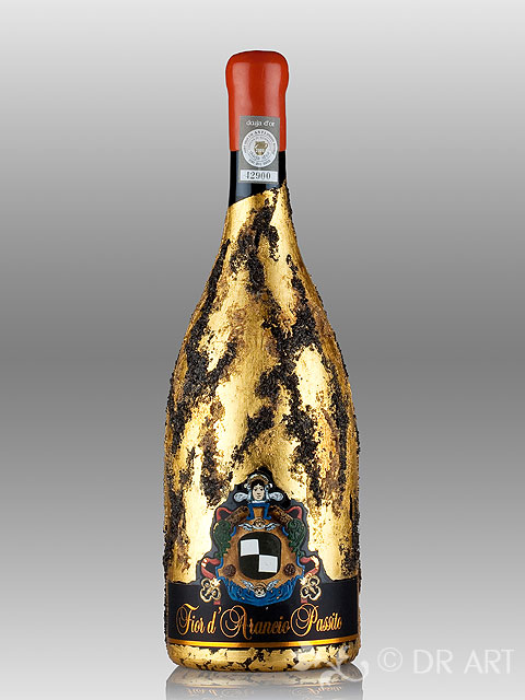 decorazione bottiglie wine art dr art